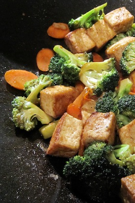 Broccoli and tofu stir fry, photo by Jon Haupt